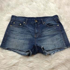 J.crew Raw Hem Denim Shorts Size 27